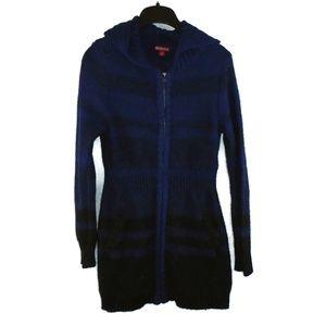Merona Sweater Dress Small Blue Black Fitted Mini